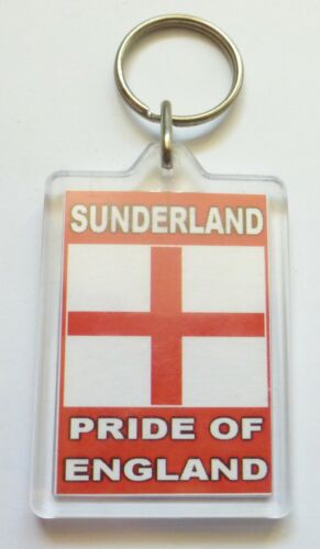 Sunderland Pride of England Acrylic Key Ring Keyring *