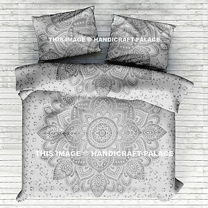 Elephant Mandala Outfitter Queen Size Indian Comforter Donna Duvet Cover Eithnic