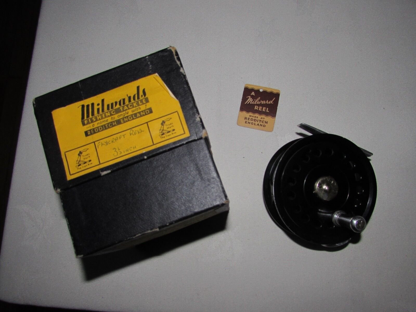 Excellent vintage millwards millward Fliegencraft trout Fliegen fishing reel 3.5  boxed