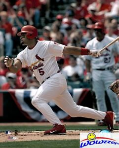 Albert-Pujols-Cardinals-MLB-Hologram-8x10-Color-Glossy-Photo-3-MINT-in-Topload
