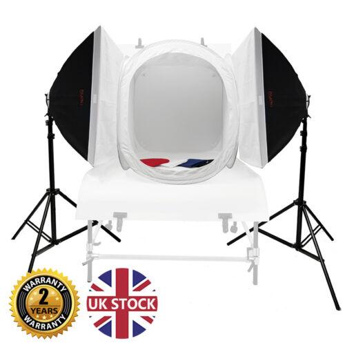 PIXAPRO Daylite 4 4200 W Twin Softbox Kit Con 75 cm Cubo Tienda Producto FotografíA