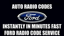 OFFICIAL Ford Car Radio Unlock Code | Stereo Pin Decode | All V Series