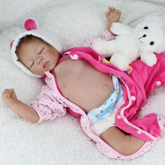 "22"" Reborn Baby Boy Dolls Real Life Vinyl Silicone Belly Baby Doll Birthday Gift"