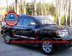 fit-2004-2010-Nissan-Armada-Body-Side-Molding-Trim-Overlay-Cover-4Pc-3-034