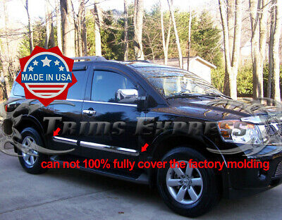 """Stainless Steel 3/"""" Wide Body Side Molding Overlay 4PC Fits Nissan Armada  04-10"""