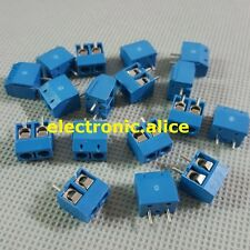 2Pin 2P Screw blue PCB Terminal Block Connector 5mm Pitch New 20pcs
