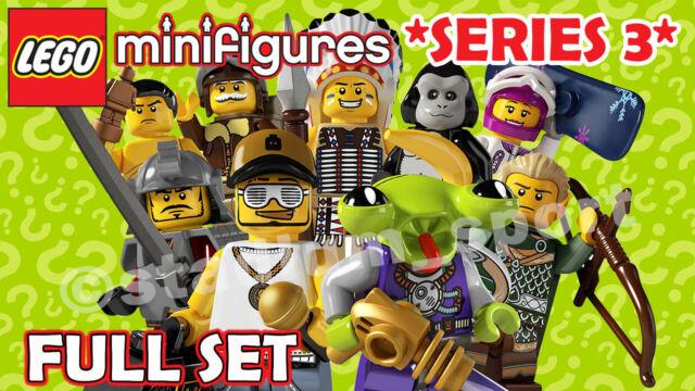 LEGO Minifigures: Series 3 [8803] *2011-RETIRED* COMPLETE FULL SET
