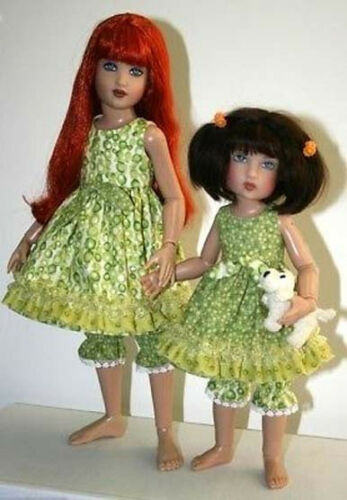 "Sweet Sisters Dress Doll Clothes Sewing Pattern for 12/"" Bethany 14/"" Kish"