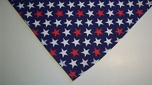 Dog-Bandana-Scarf-Tie-On-Slide-On-Patriotic-Custom-Made-by-Linda-XS-S-M-L
