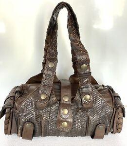Chloe-Silverado-Brown-Python-Leather-Shoulder-Hand-Bag-Women