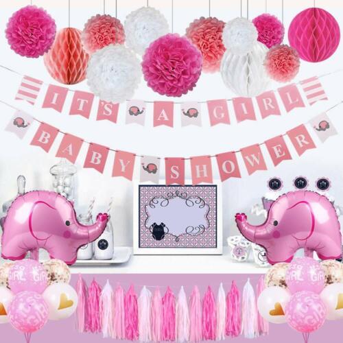 Elefantes Para Decoracion Baby Shower Elefante Decoraciones Globos De Niña Set