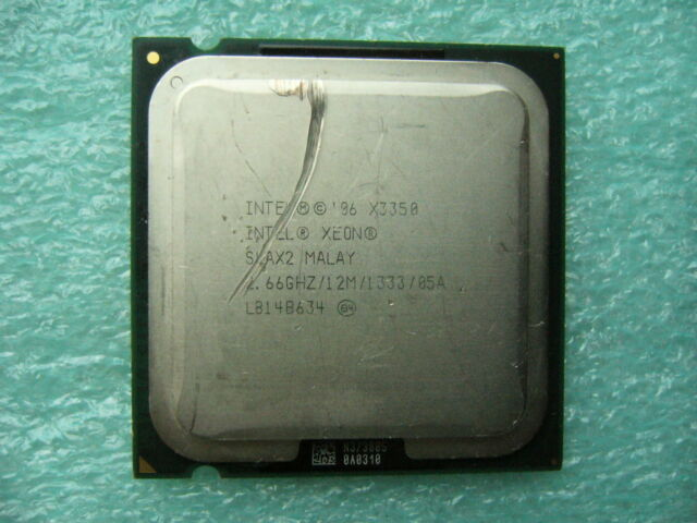 QTY 1x INTEL Quad Cores X3350 CPU 2.66GHz/12MB/1333Mhz LGA775 SLAX2