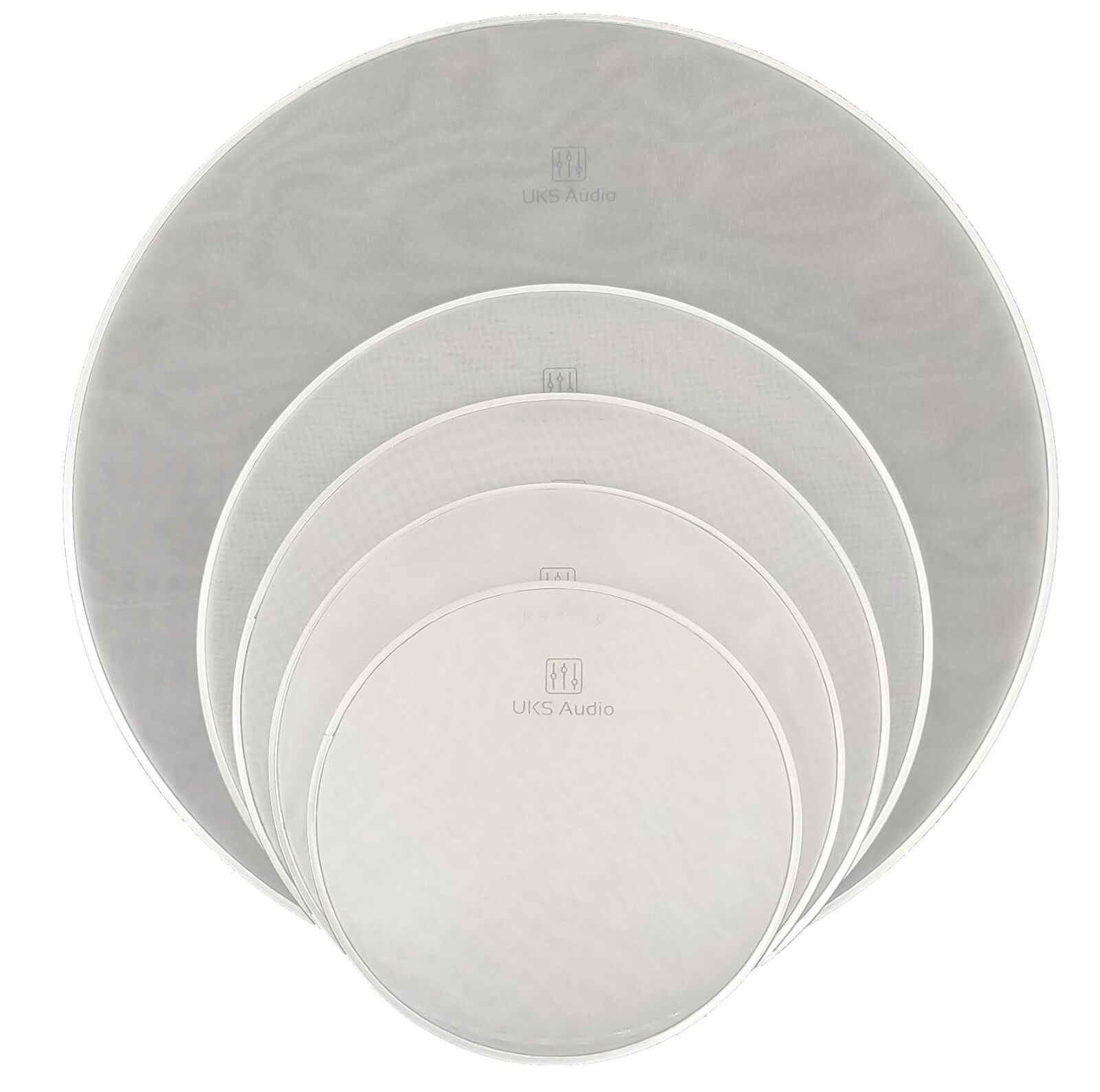 Two-Ply Mesh Drum Head Set - Pro Pack Silent (5) Drumheads (10,12,14,16,22 )