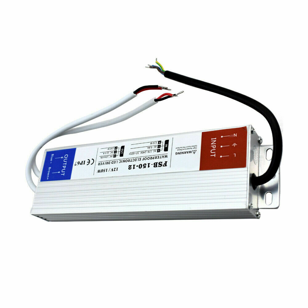 IMPERMEABILE IP67 LED LED LED DRIVER Powersupply Trasformatore SLIM 240V DC12V Striscia LED d9698f