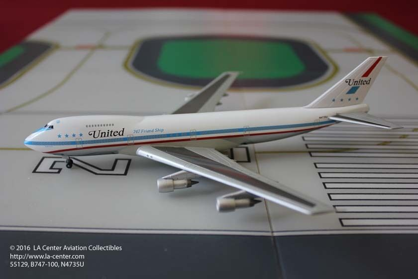 Dragon Wings United Airlines Boeing 747-122 Friendship Diecast Model 1 400