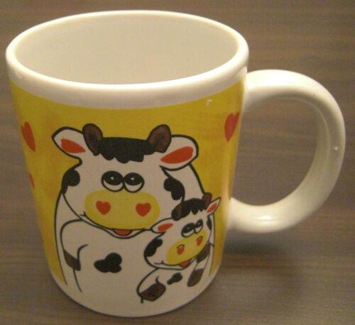 Tasse cafetière grande tasse gobelet pott amoureuses vaches//vache coeur NEUF