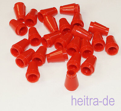 Lego 100 rote Kegelsteine 1x1 Kegel in rot red Cone Neu New Kegelstein