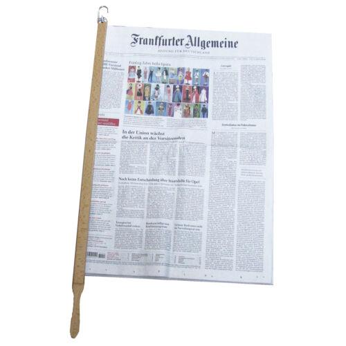 Deluxe Zeitungshalter Zeitungsstock Buche Zeitung Magazin Speisekarte Halter