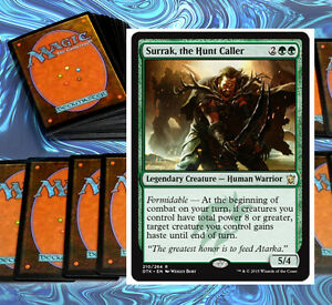 mtg-KHANS-GREEN-DECK-Magic-the-Gathering-rare-60-cards-surrak