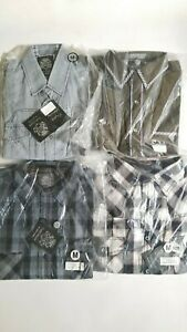 English-Laundry-Longsleeve-Button-Up-Mens-Shirt-M-Medium-Lot-of-4-Shirts-NEW-D07