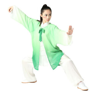 d203eae90 High Quality Womens Cotton & Silk Tai Chi Uniform 3 Pieces Kung Fu ...