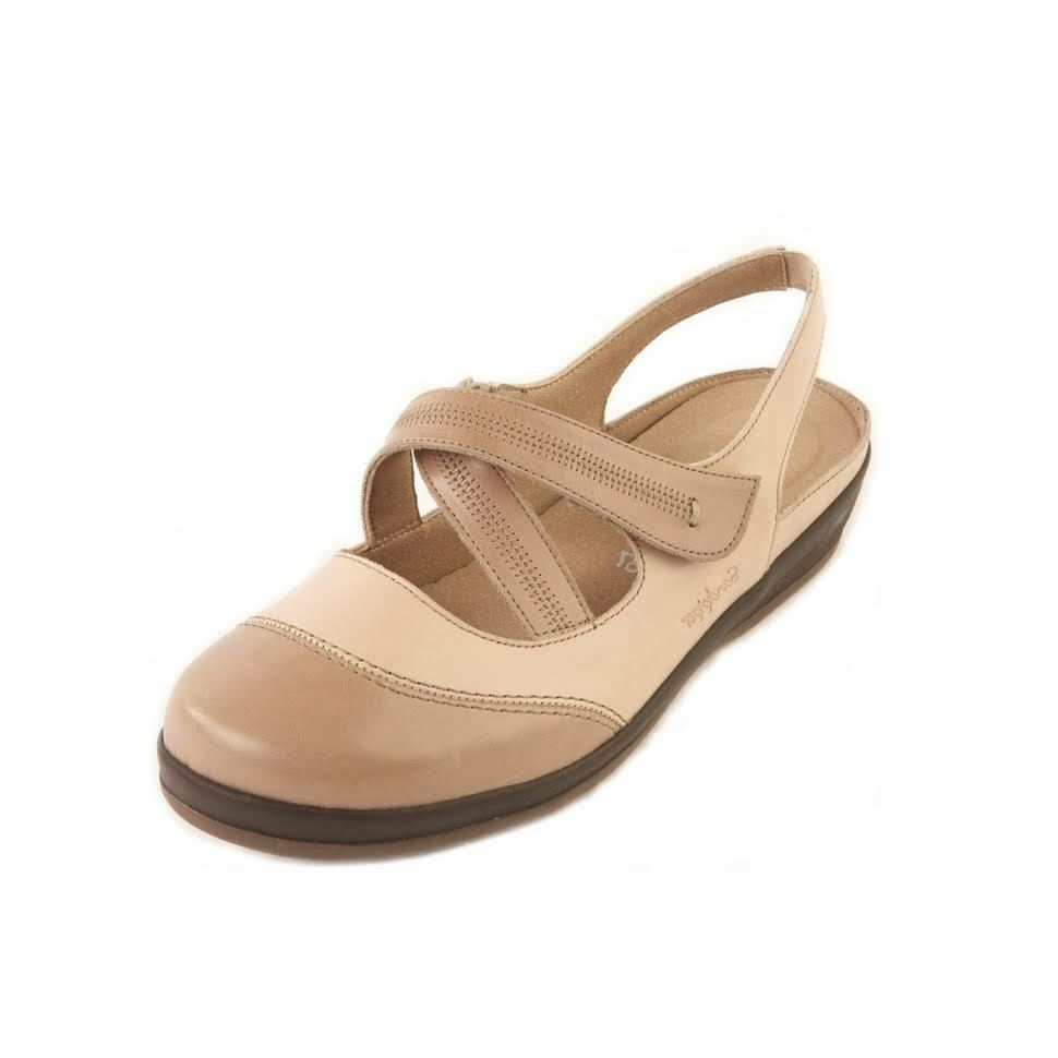 Sandpiper Womens Shoe Wide Fit Ferring Leather Comfort Shoe Womens Footbed Sandals Shoes 6d2afc