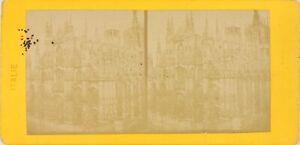 Italia Milan , La Cattedrale Duomo, Foto Stereo Vintage Albumina PL60OYL1