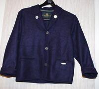 Giesswein Austria Blue Boiled Wool Coat Jacket Girls Coat Size:12