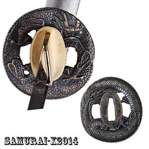 ROUND ALLOY TSUBA HAND GUARD FOR JAPANESE SAMURAI KATANA WAKIZASHI SWORD