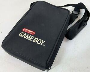 """NINTENDO GAMEBOY ORIGINAL OEM Vintage 9"""" Black Zip Side Carry Case Shoulder Bag"""