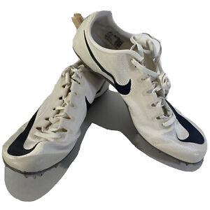 Field Running Spikes Shoes Cream White