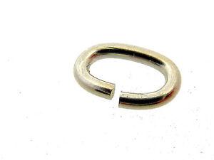 # F105 # Bindering Oval 8 Mm Öse Offen 925/000 Silber Stabil Vom Fachhandel SorgfäLtige FäRbeprozesse