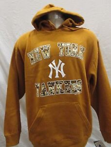 release date: 39079 edd0e Details about New York Yankees Men's Pullover Hoodie Camo Logo MLB Stitches  Tan Size S L