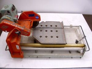 details about used mk diamond 10 inch wet tile saw mk 101 pro24 circular cutting stand blade