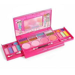 girls deluxe makeup palette mirror set kit beginner