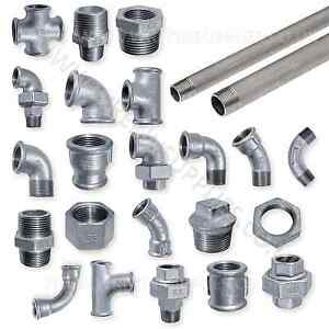 Details about EE GALVANISED MALLEABLE IRON PIPE FITTINGS BSP WATER STEAM  AIR GAS GALV TUBE
