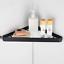 Toughened-Bathroom-Corner-Shelf-Shelve-Glass-Shower-Wall-Mount-Storage-Shelving thumbnail 1