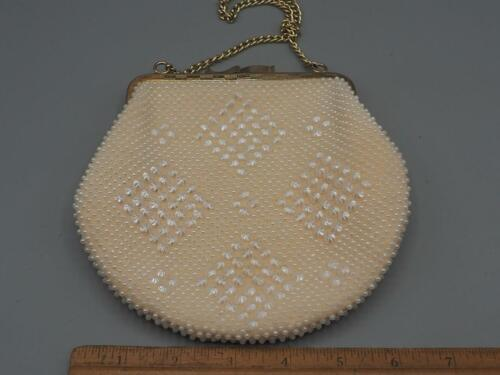 Vintage Abend Mini Handtasche Clutch Perlen qaqCxwA