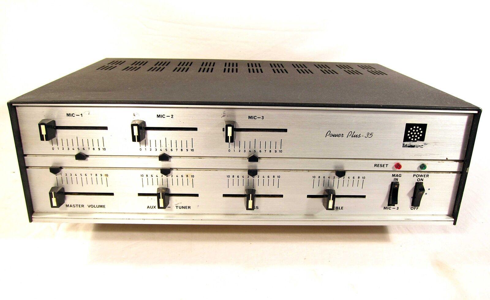 Vintage Fanon Power Plus 35 PA Amplifier Amp Mixer WORKING NICE