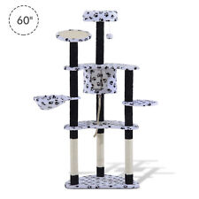 """Multilevel 60"""" Cat Scratching Tree Tower  Post Condo Cat House Pet Furniture"""