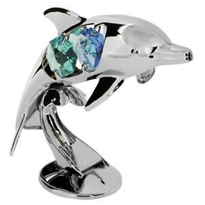 Crystocraft Delfin Hergestellt mit Swarovski Kristallen