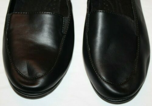 Basic Editions Women/'s Evelyn Black Loafer Shoes Wide Width