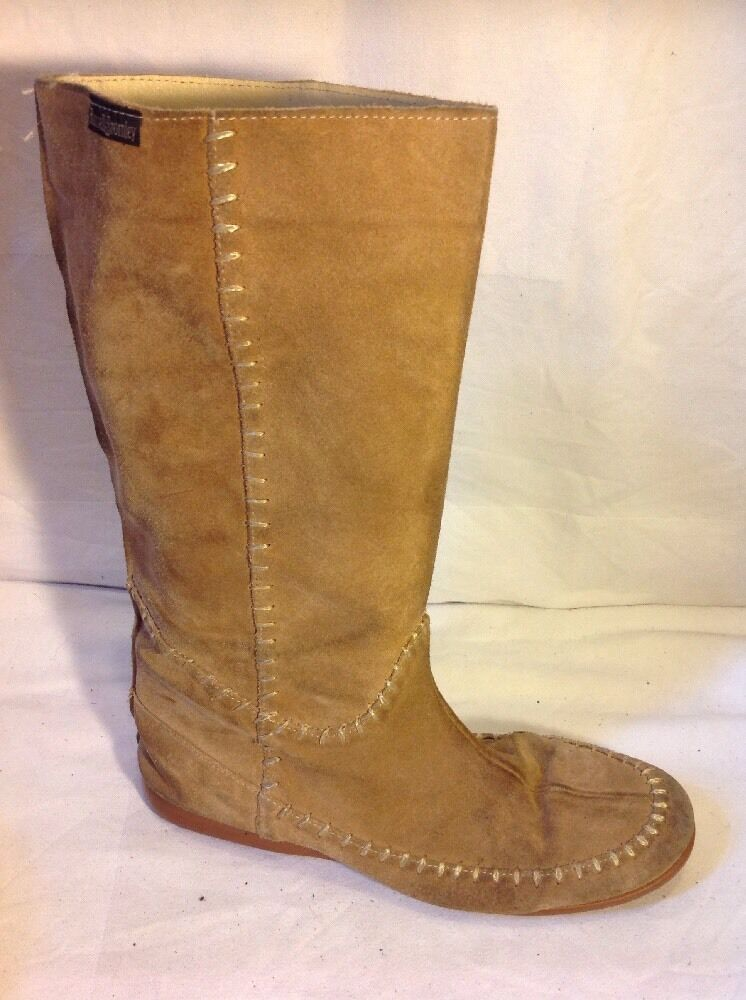 Russell&Bromley Brown Mid Calf Suede Boots Size 39