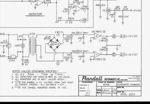 randall instruments rpa 800 guitar mixer pa amp head original rh ebay ca Electrical Schematic Diagrams Basic Electrical Schematic Diagrams