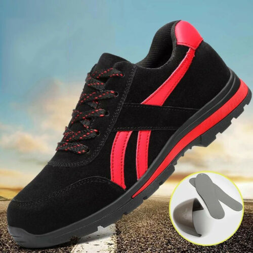 MEN WOMEN SAFETY TRAINERS SHOES BOOTS WORK STEEL TOE CAP HIKER ANKLE SIZE 2-10