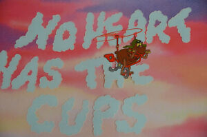 Vintage-1986-BEASTLY-Nelvana-Care-Bear-Production-Animation-Cel-NO-HEART-CUPS