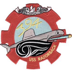 "5/"" USS NAVY RAZORBACK SS-394 EMBROIDERED PATCH"
