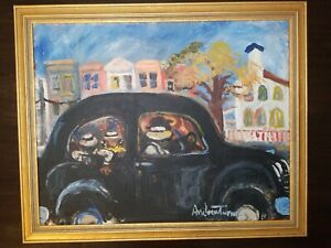 Andrew Turner Oil Painting, African American Folk Art, Signed and Framed
