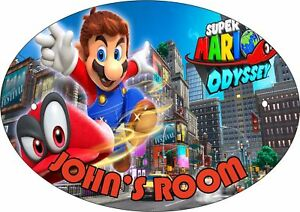 Details about SUPER MARIO ODYSSEY #2 PERSONALISED DOOR PLAQUE