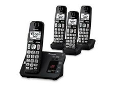 Panasonic KX-TG3634B Cordless Telephone with Answering Machine, 4 Handsets